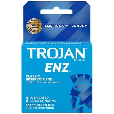 Trojan-Enz Lubricated Premium Latex Condoms - 3