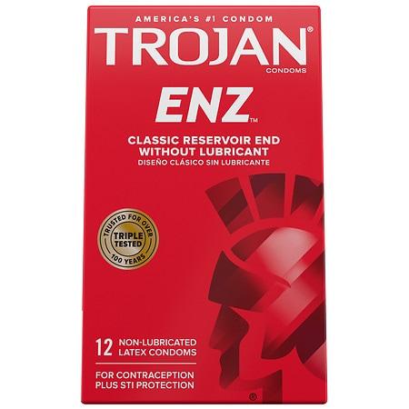 Trojan Non-Lubricated Premium Latex Condoms - 12