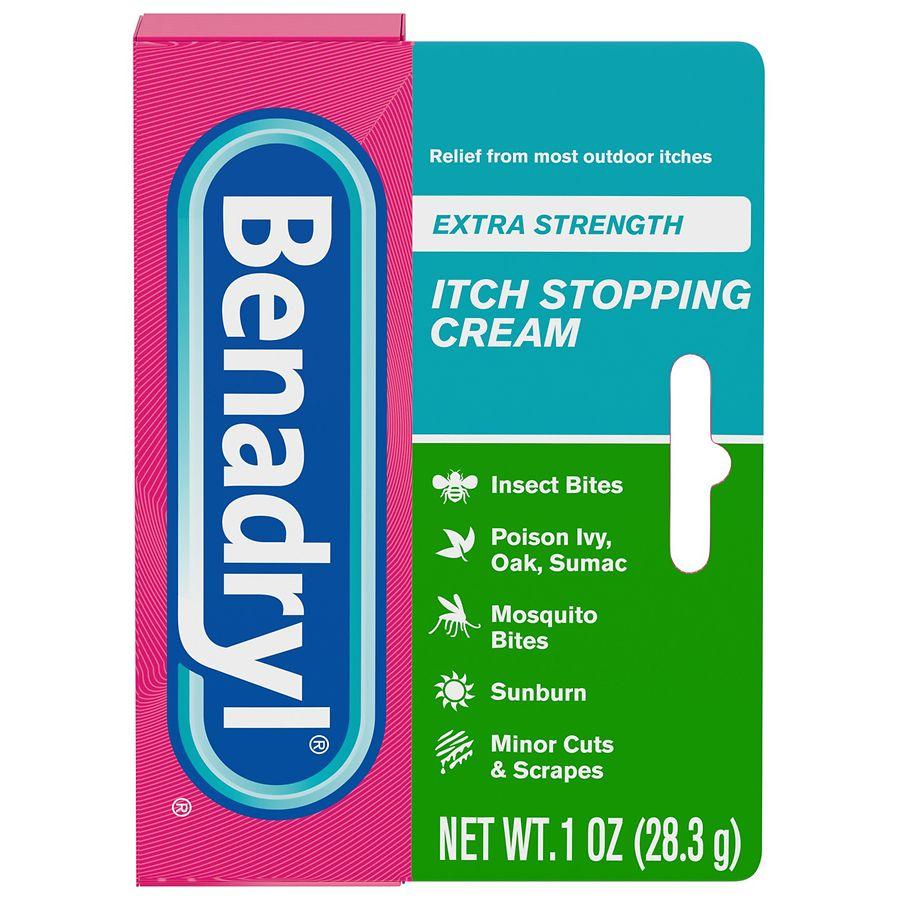 Benadryl Itch Stopping Cream, Extra Strength