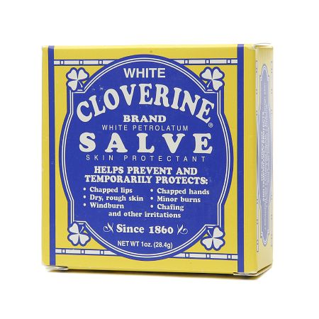 White Cloverine White Petrolatum Salve - 1 oz.