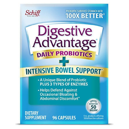 Schiff Digestive Advantage Intensive Bowel Support - 96 ea