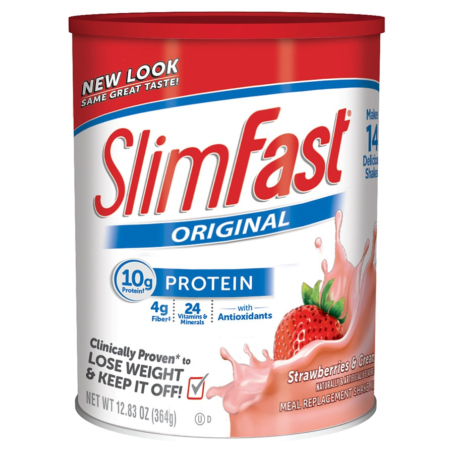 Slimfast Protein Shake Mix Strawberries N Cream Walgreens