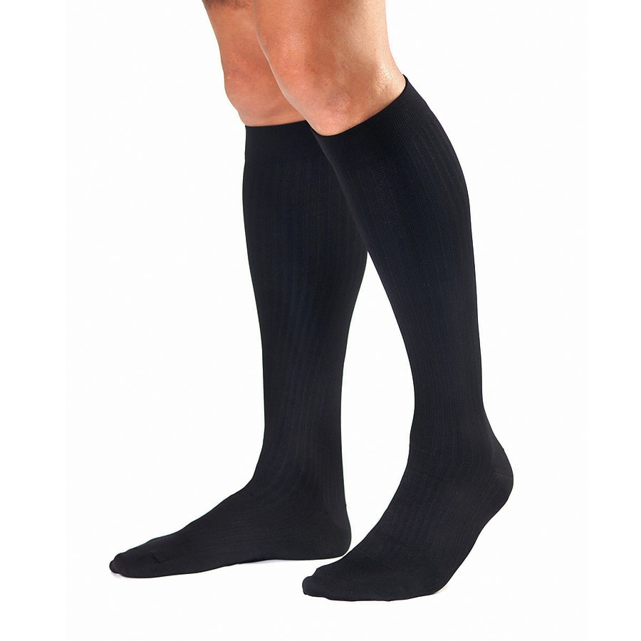 7b8cb180239 Jobst SupportWear Men s Dress Knee High Socks (Mild) 8-15 mm Black ...