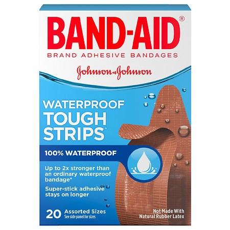 Band-Aid Tough-Strips Waterproof Bandages - 20 ea