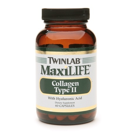 Twinlab MaxiLife Collagen Type II with Hyaluronic Acid Dietary Supplement Capsules