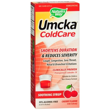 Nature's Way Umcka Cold Care Soothing Syrup Cherry