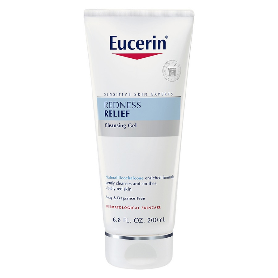 Redness skin Eucerin facial relief sensitive