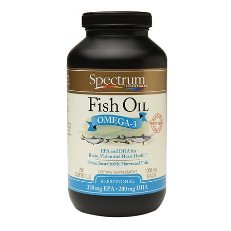 spectrum essentials fish oil omega 3 1000mg softgels