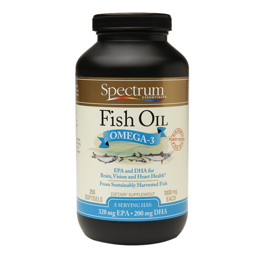 Spectrum essentials fish oil omega 3 1000mg softgels for On fish oil