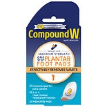Compound W One Step Plantar Pads, Wart Remover