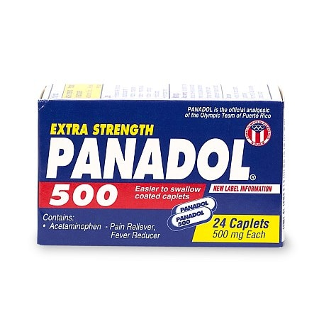 Panadol Extra Strength Adult Pain Reliever, Caplets - 24 ea