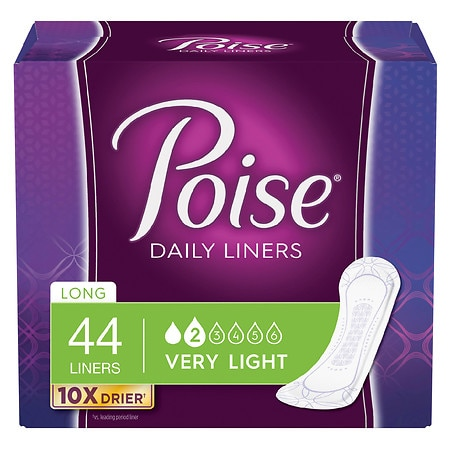 Poise Incontinence Liners, Very Light Absorbency Long Length