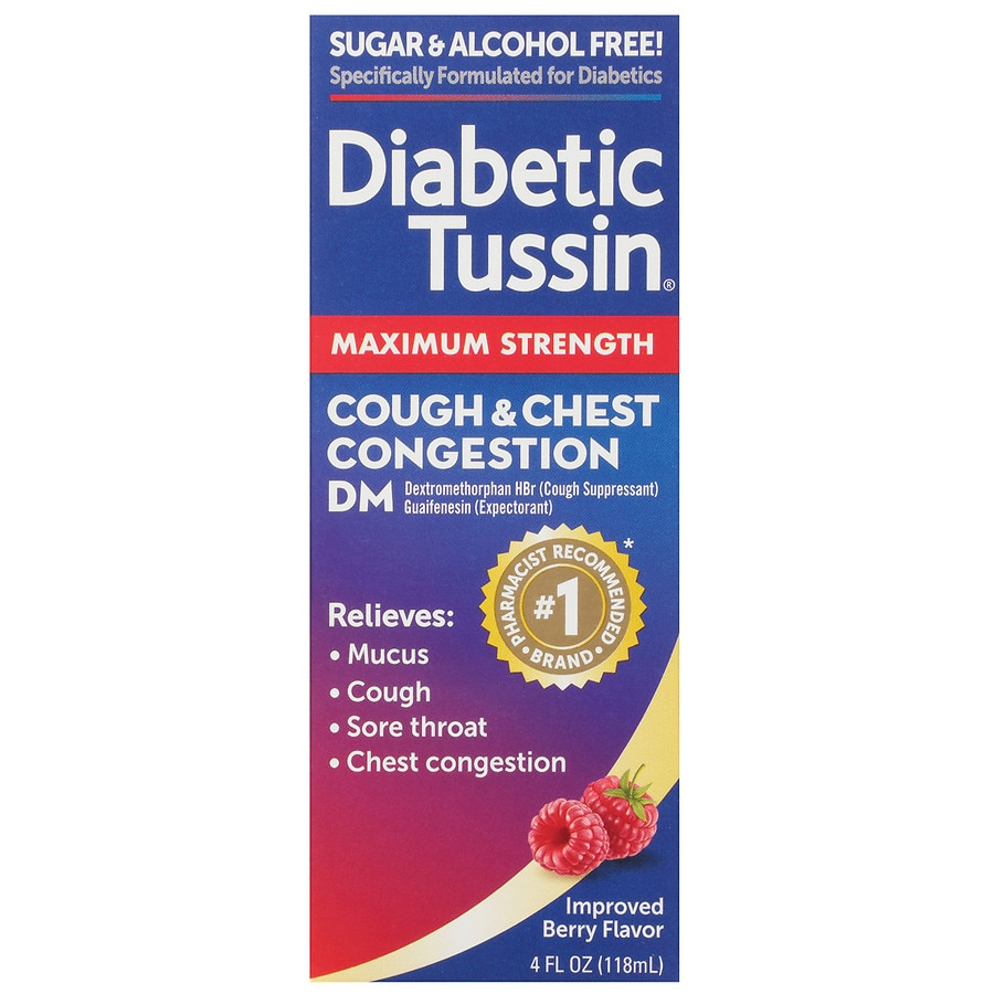 Diabetic Tussin Dm Cough Suppressant Expectorant Liquid Walgreens