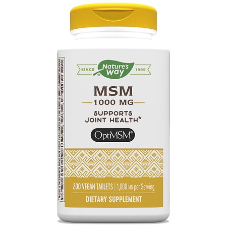 Nature's Way MSM 1000 mg Dietary Supplement Tablets