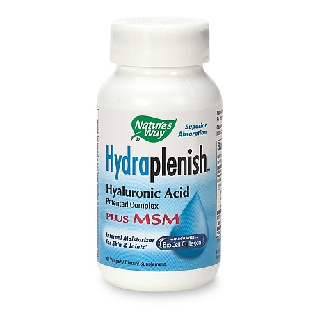 Nature's Way HydraPlenish Hyaluronic Acid plus MSM Dietary Supplement Vcaps