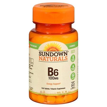 Sundown Naturals Vitamin B6, 100mg, Tablets   Walgreens