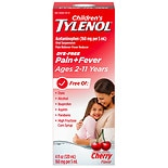 Children's TYLENOL Oral Suspension, Dye-Free Cherry Flavor Cherry Flavor