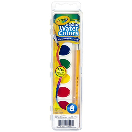 Crayola Washable Watercolor Paint Set Assorted