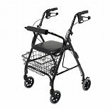 Medline 4 Wheeled Walker Black