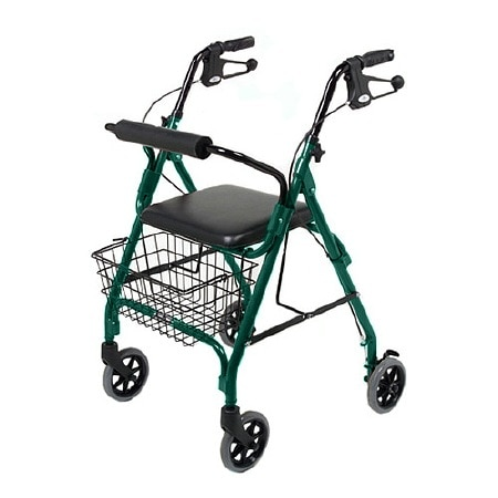 Medline 4 Wheeled Walker Green