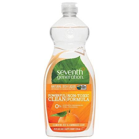 Seventh Generation Natural Dish Liquid Clementine Zest & Lemongrass 25 Oz.