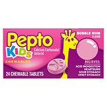 Pepto-Bismol Pepto Kid's Calcium Carbonate/ Antacid Chewable Tablets Bubble Gum