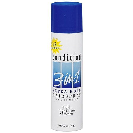 Condition 3-in-1 Extra Hold Hair Spray, Aerosol Unscented