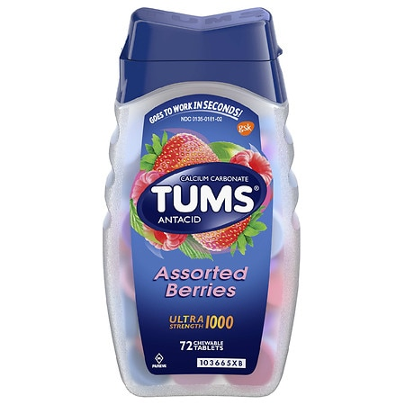 Tums Antacid Chewable Tablets Assorted Berries - 72 ea
