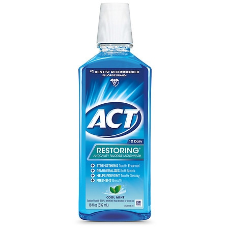ACT Restoring Anticavity Fluoride Mouthwash Cool Mint