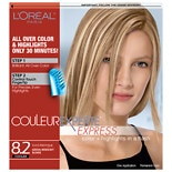 L'Oreal Paris Couleur Experte Hair Color + Hair Highlights Iced Meringue, Medium Iridescent Blonde 8.2
