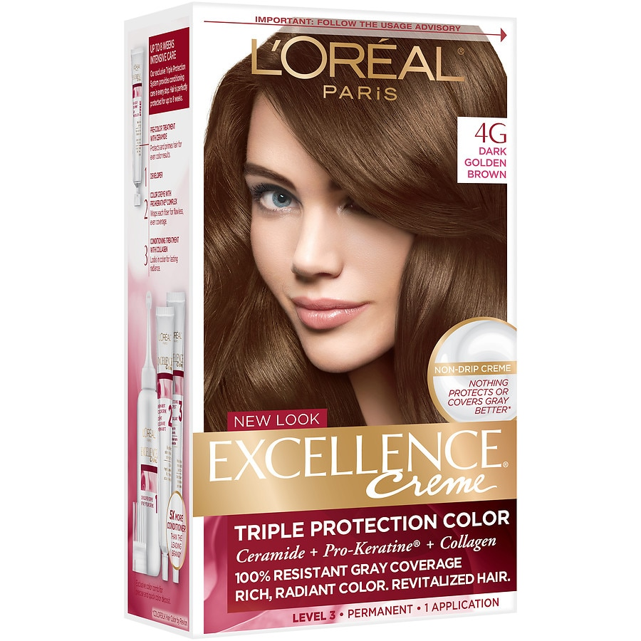 Loreal Paris Excellence Creme Permanent Hair Colordark Golden