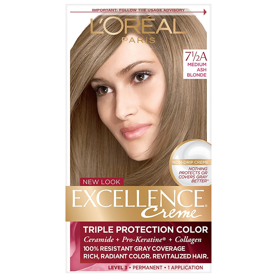 Loreal Paris Excellence Creme Permanent Hair Colormedium Ash