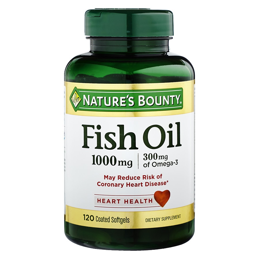 Nature 39 s bounty odorless fish oil 1000 mg dietary for Fish oil 1000 mg