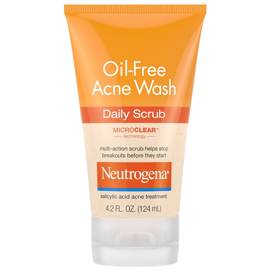 Neutrogena Oil Free Acne Face Wash Daily Face Scrub Walgreens