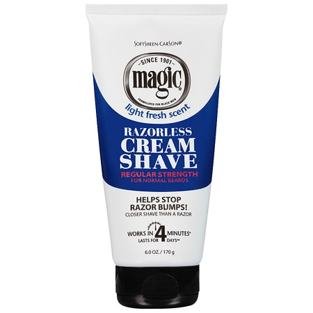 Magic Shave Razorless Cream Shave Light Fresh Scent, Regular Strength