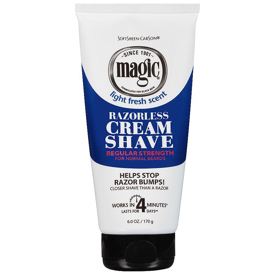 Magic Shave Razorless Cream Shave Light Fresh Scent Regular