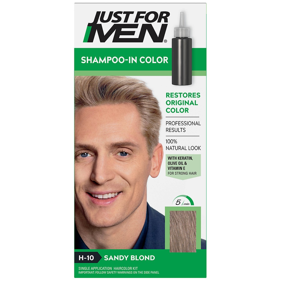 Just For Men Shampoo In Haircolorh 10 Sandy Blond Walgreens