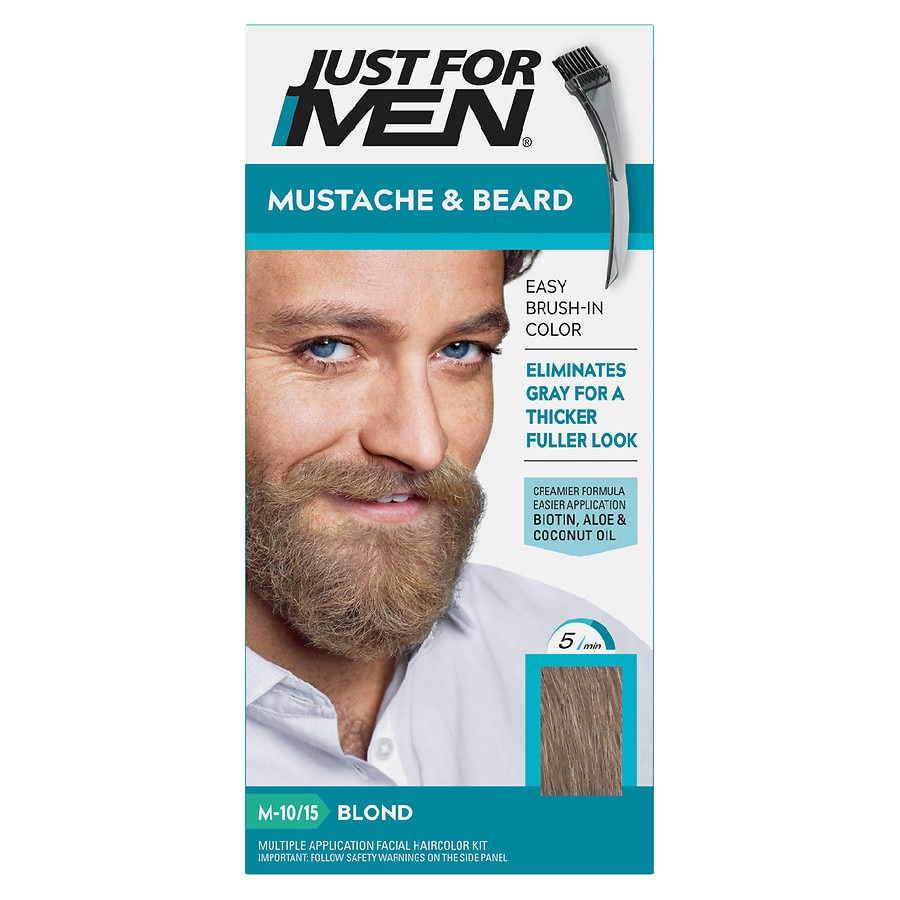 Just For Men Brush-In Color Gel For Mustache & Beard,M-10/15 Blond ...