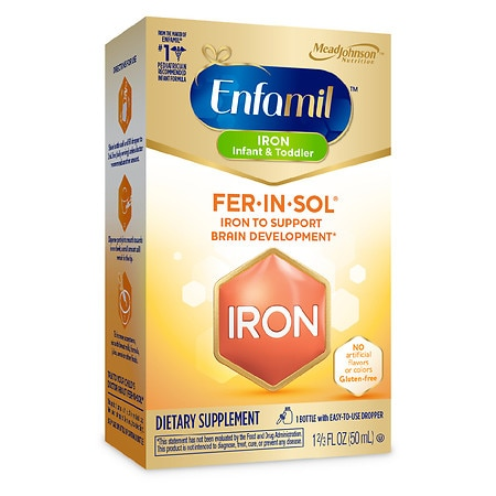 Enfamil Fer-In-Sol Supplement Drops, Iron for Infants & Toddlers