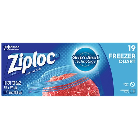 Ziploc Heavy Duty Freezer Bags Quart