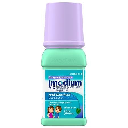 Imodium A D Anti Diarrheal Liquid Mint ...