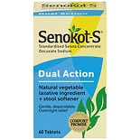 Senokot-S Natural Vegetable Laxative Plus Softener, Tablets