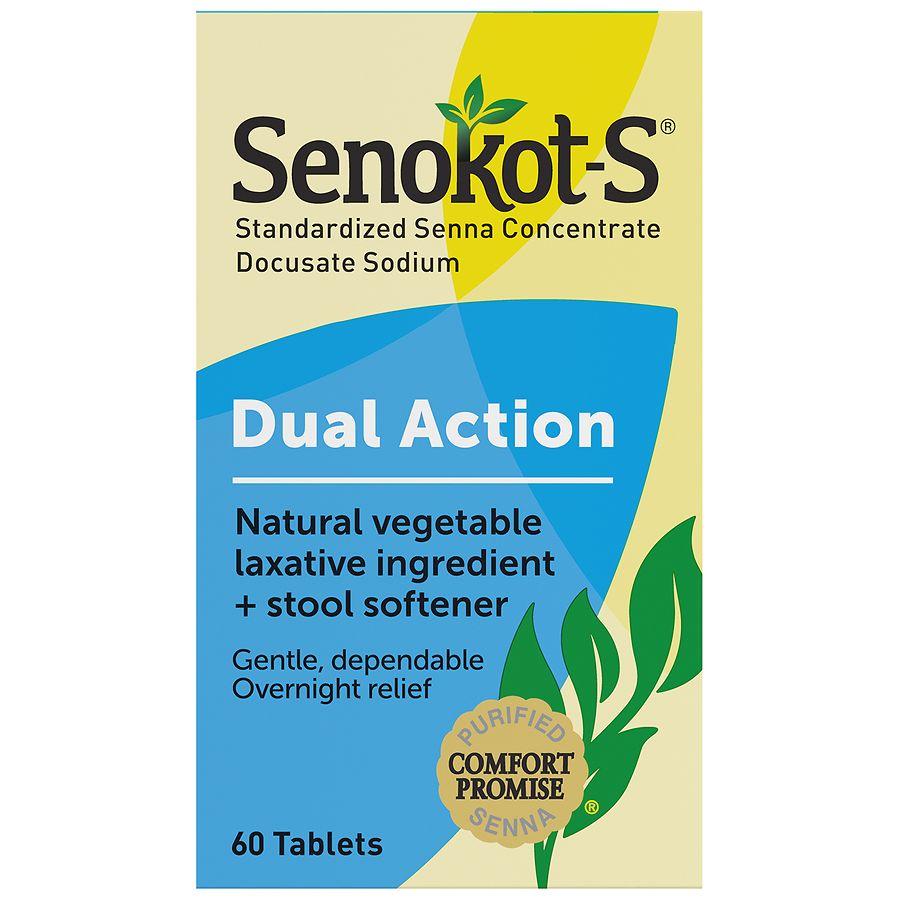 Senokot S Natural Vegetable Laxative Plus Softener