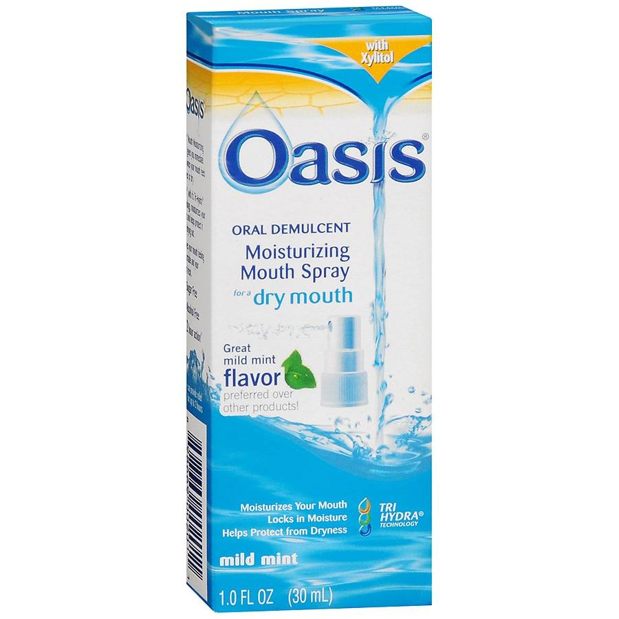 Oasis Mouth Moisturizing Spray for Dry mouth Mild Mint1 oz