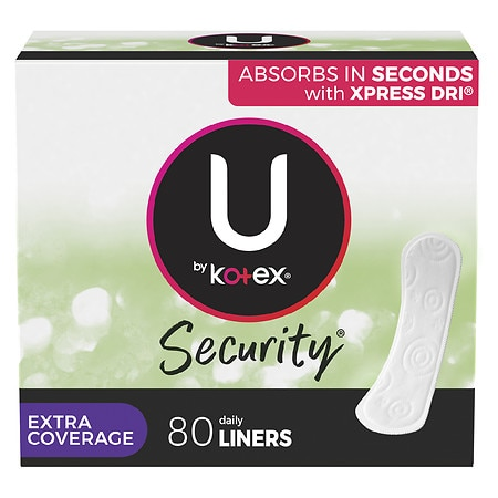 U by Kotex Lightdays Pantiliners, Extra Coverage Unscented - 40 ea