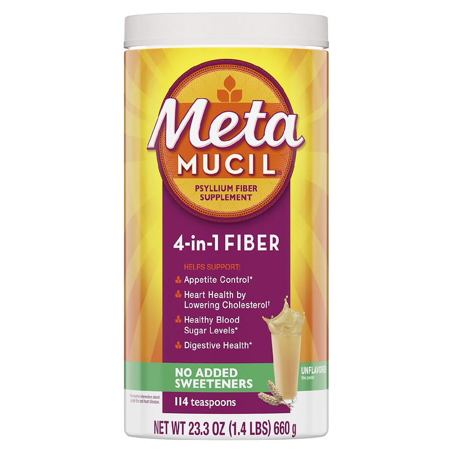 Metamucil Multi-Health Psyllium Fiber Supplement Sugar Free Powder