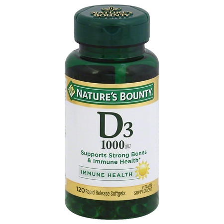Nature's Bounty D-1000 IU Vitamin Supplement Softgels - 100 ea