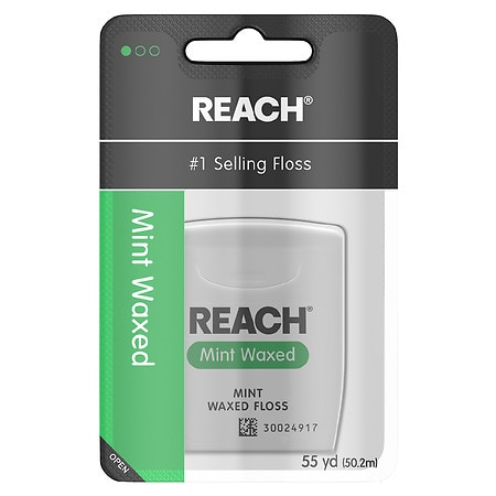 Reach Waxed Dental Floss Mint - 55 Yd