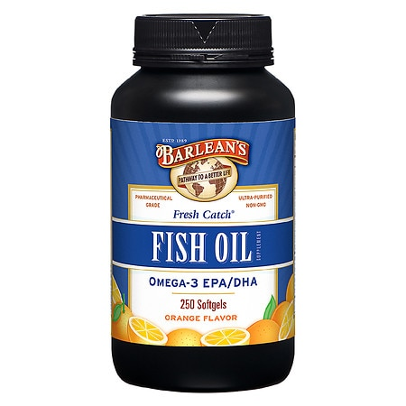 Barlean's Organic Oils Fresh Catch Fish Oil Omega-3 EPA/DHA 1000mg Softgels Orange
