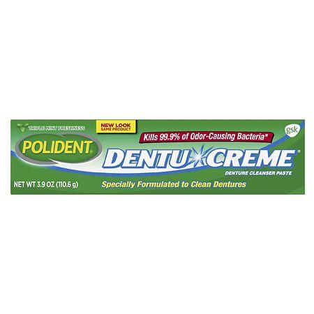 Polident Dentu Creme Triple Mint - 4 oz.